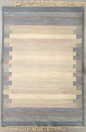 A swedish falt weave carpet signed 202x138 cm.