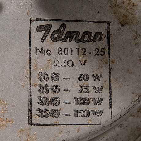 Paavo tynell, a pair of mid-20th century 80118 (80112-25) for idman.