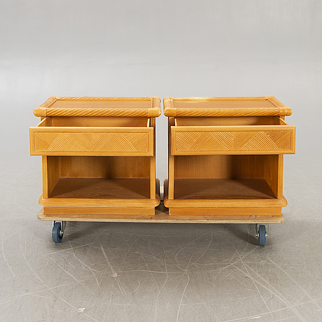 Dux, bedside tables, a pair, second half of the 20th century.