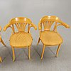 Chairs, 4 pcs, bentwood, second half of the 20th century.