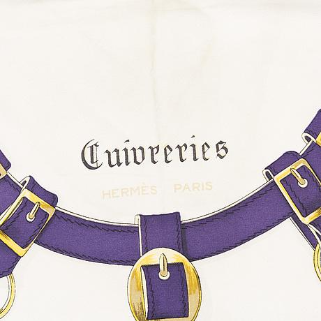 """Hermès, scarf, """"cuivreries""""."""