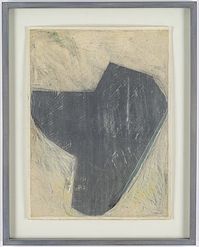 LG Lundberg, mixed media on paper, signed and dated 1985.