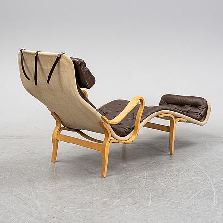 Bruno mathsson, a 'pernilla 3' beech recliner, dux, 1980's.