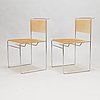 """Giandomenico belotti, stolar, 4 st, """"spaghetti chair"""",  fly line, italien 1970-tal."""