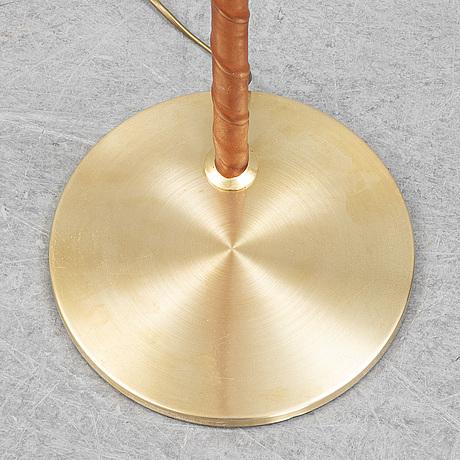 A brass floor light from ewå, second half of the 20th century.