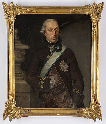 Ernest heinrich abel, attributed to, oil on canvas, signed and dated 1774.