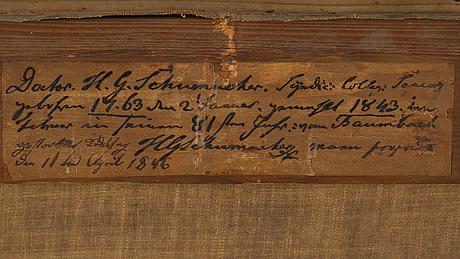 Okänd konstnär, tyskland, 1800-tal, olja på duk.