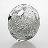 Timo sarpaneva, glass sculpture, 'hiidenhelmi' (the devil's pearl), signed timo sarpaneva - iittala -55.