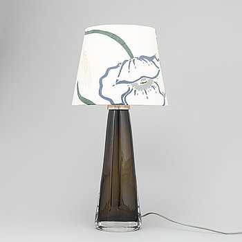 A glass lamp by Carl Fagerlund, Orreors, second half of the 20th century.