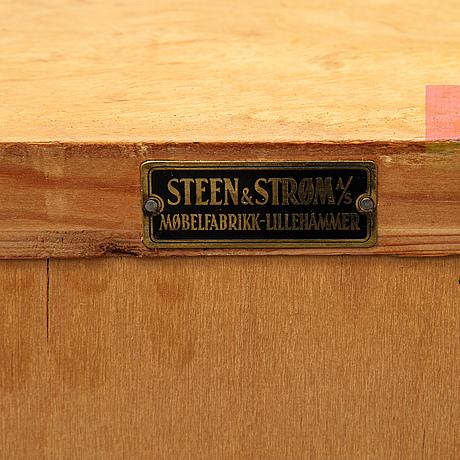A birch bookshelf from sten & strøm møbelfabrikk, lillehammer, norway, 1930's/40's.