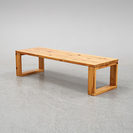 A pine bench, second half f the 20th century.