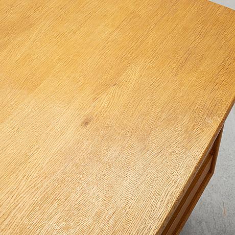 An oak writing desk, lelångs möbelfabrik, 1950's/60's.