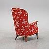 A 'vår fru' armchair designed by carl malmsten, ab oh sjögren, tranås, second half of the 20th century.