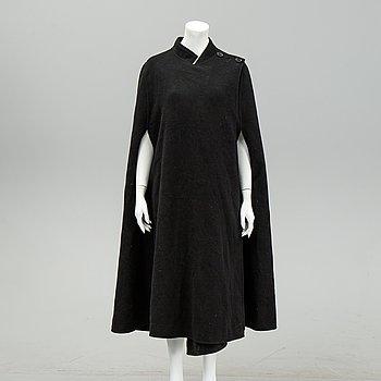 Céline, a black wool cape.