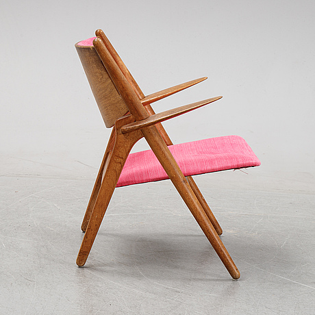 A 'ch28' armchair by hans wegner, second half of the 20th century.