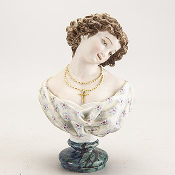 A possibly French porcelain figurine later part of the 19th century.