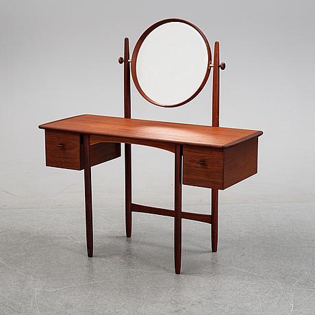 Sven engström & gunnar myrstrand, a teak veneered dressing table, bodafors, 1950's/60's.