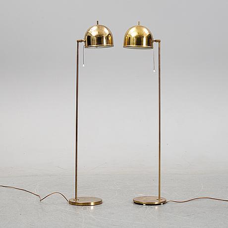 Eje ahlgren, golvlampor, ett par, modell g-075, bergboms, 1960/1970-tal.