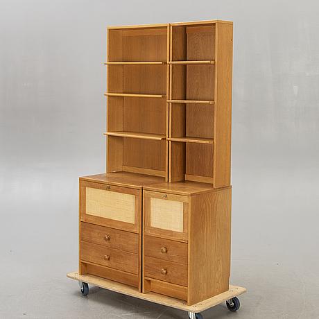 """Åke hassbjer, bookshelf """"atmosphere"""", tingströms/dux, 1960s."""