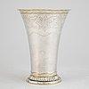 A silver beaker by nils tornberg, linköping 1810.