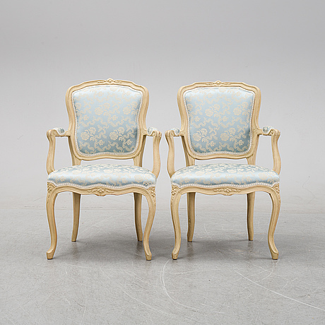 A pair of rococo archairs, second half of the 18th century.