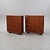 A pair of mahogany veneered bookcases, 1930's/1940's.