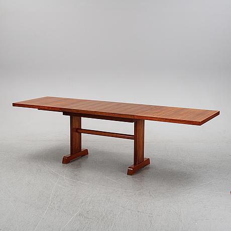 Ga berg, a teak dining table, 1940's/50's.