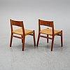 John vedel rieper, a set of eight oak chairs, denmark. designed 1962.