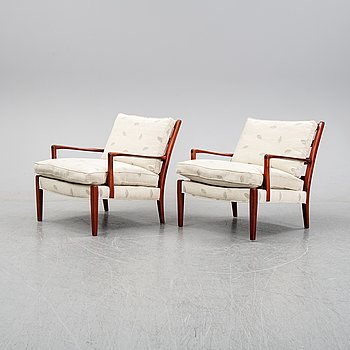 Arne Norell, a pair of 'Löven' easy chairs, second half of the 20th Century.
