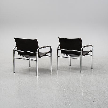 Tord björklund, karmstolar, ett par, 'klinte', ikea, 1970-tal.