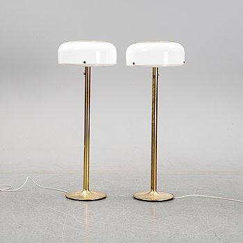 Anders Pehrson, a pair of 'Knubbling' floor lights, Ateljé Lyktan, Åhus, 1960's/1970's.