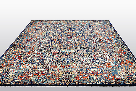 A carpet, kashmar, ca 393 x 302 cm.