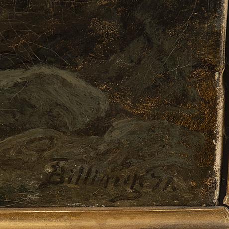Theodor billing, olja på duk, signerad och daterad -71.