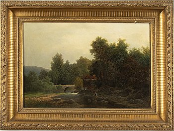Theodor Billing, oil on canvas, signed and dated -71.
