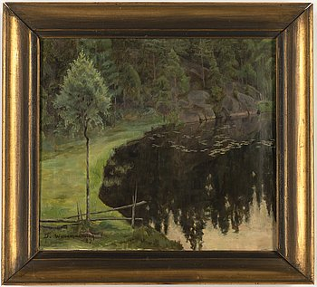 Donald William-Olsson, oil on canvas, signed and dated -27.
