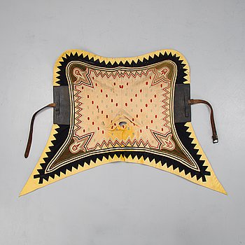 An officer's saddle cloth 1876 pattern.