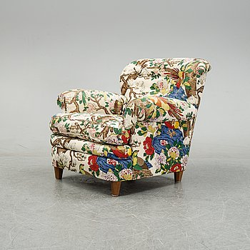 A model 568 lounge chair by Josef Frank for Firma Svenskt Tenn.