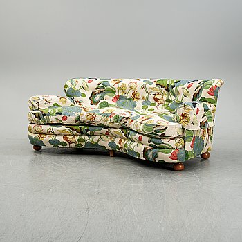 A model 968 sofa by Josef Frank for Firma Svenskt Tenn.