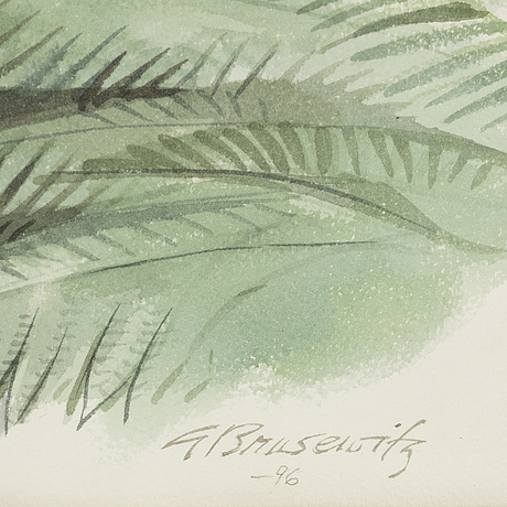 Gunnar brusewitz, watercolor, signed and dated -96.