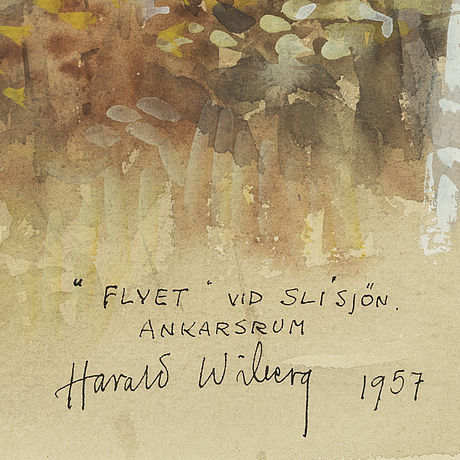 Harald wiberg, mixed media, signed and dated 1957.