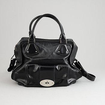 Mulberry, a black leather handbag.