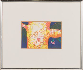 Olli Lyytikäinen, lithograph and pencil, signed and dated 1984, numbered 21/50.