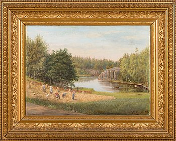 Hilda Granstedt, oil on canvas, signed and dated-96.