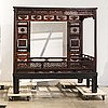 A chinese 20th century wooden bed.
