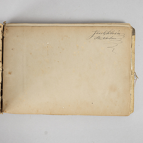 Jacob silvén, sketch book with 24 sheets.