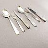 A swedish 20th century set of 36 pcs of silver cutlery mark of j ängman/gab stockholm 1960s tota weight 1202 gr.