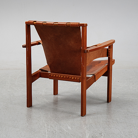 Carl-axel acking, a 'trienna' easy chair, nordiska kompaniet, 1950-60s.