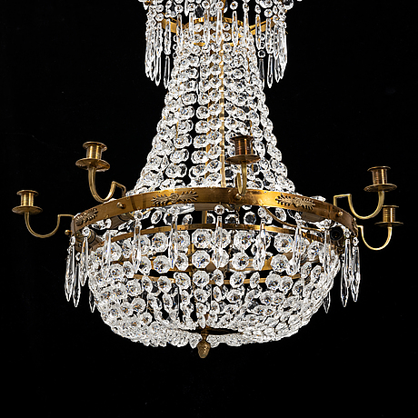 A gustavian style chandelier, 21st century.
