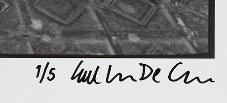 Carl johan de geer, photo, signed 1/5.