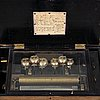 A presumably swiss music box with carillon, second half of the 19th century.